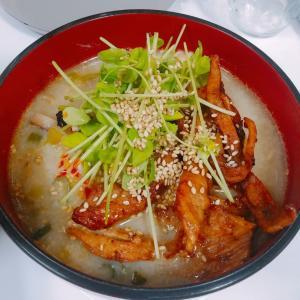 残り物飯★すき焼き→担々麺スープ