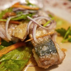 サバの南蛮と茄子の生姜醤油の煮炒め