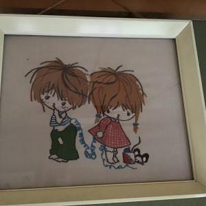 男の子と女の子の刺繍^_^