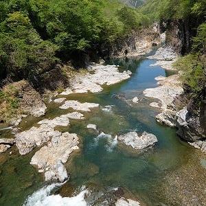龍王峡の新緑