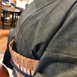 藍染め木綿の着物