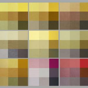 天然染料 7種類の染色データから