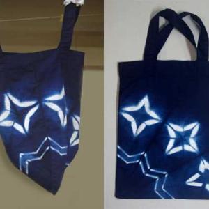 藍染め手提げバッグ