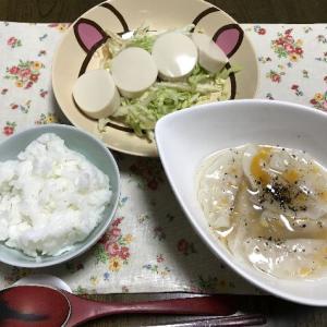 水餃子と冷奴の白菜バター醤油添え
