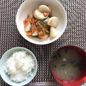 カブとサバ缶の生姜風味煮