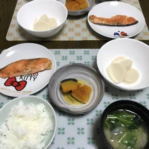 焼鮭とかぼちゃの煮物