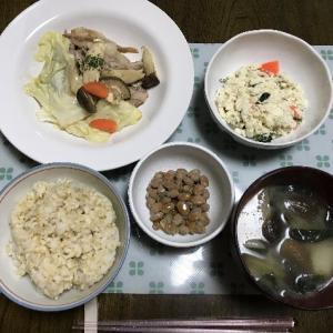 豚小間と野菜のポン酢ジュレ炒め