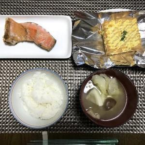 マヨ厚揚げと焼鮭