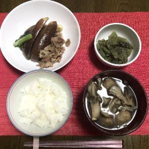 茄子と豚肉の甘辛煮