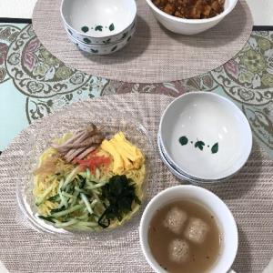 四川風麻婆丼と冷し中華