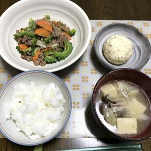 ゴーヤと豚ひき肉の炒め物