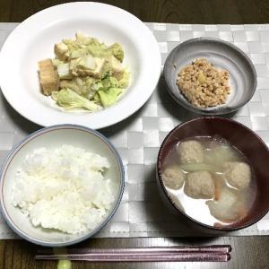 厚揚げと白菜の味噌マヨ胡麻炒め
