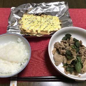 厚揚げのマヨ焼きと豚肉の玉ねぎポン酢炒め