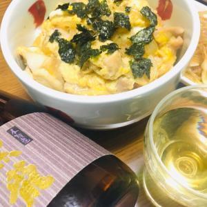 カツ丼と黒龍 本醸造