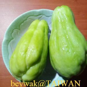 佛手瓜(ハヤトウリ)と龍鬚菜(ハヤトウリの茎とツル)