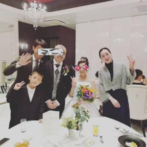 息子、初の結婚式♡