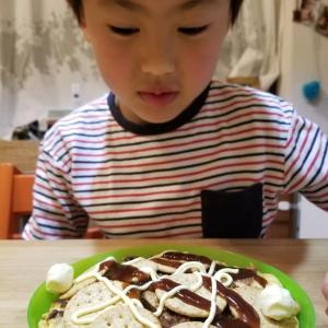 息子作の斬新な料理(笑)