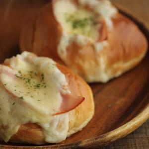 【朝ごはんにも】ロールパンでクロックムッシュ風