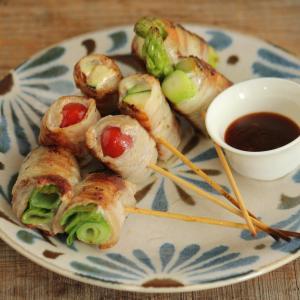【おつまみレシピ】ピリ辛肉巻き夏野菜ときどき九条ねぎ