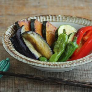 【夏野菜レシピ】麺つゆで簡単・夏野菜の焼き浸し