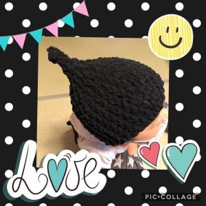 手作り☆どんぐり帽子完成☆