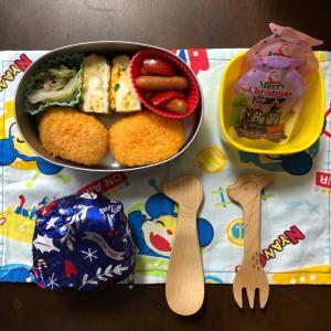 1206.幼稚園お弁当2つ☆子供の風邪貰いました