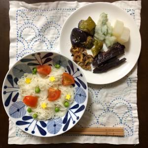 七夕のお夕飯☆お素麺