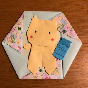 ドラッグストア公式キャラクター、ヒッポちゃんを折り紙で作ってみた☆