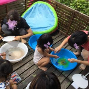 マーブリング&色水遊び