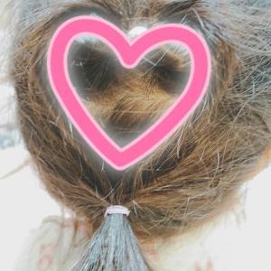 ハートな髪型。