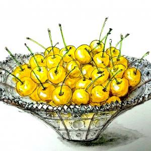 黄色いサクランボ