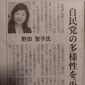 野田聖子氏。日経で学ぶ。