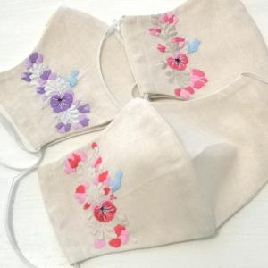 オアハカ刺繍入りマスクカバー第二弾ネットショップで販売中。
