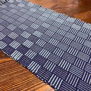グラデーションの手織りマット  完成