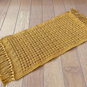 ハック織り 黄色