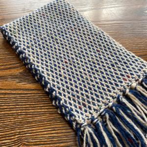 もじり織りのストール  完成