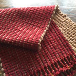 リバーシブル織りの敷物  完成