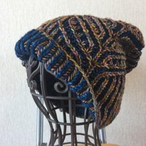 ブリオッシュ編みの帽子  完成