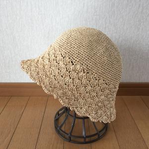 エコアンダリヤ  帽子  完成