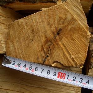割った薪の太さを測って見た ❕