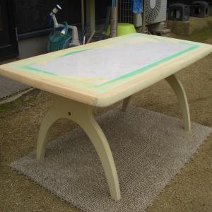 40年前中古で頂いたテーブルの再生