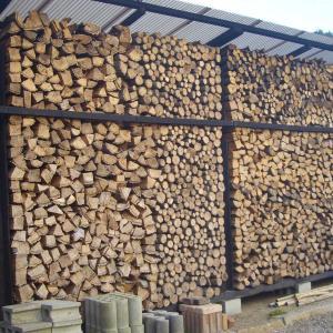 寒波到来で薪を室内に満タンに用意した。