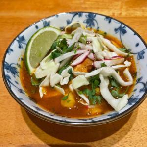 メキシカンのポソレスープをインスタポットで作ってみた(お嬢が)♪