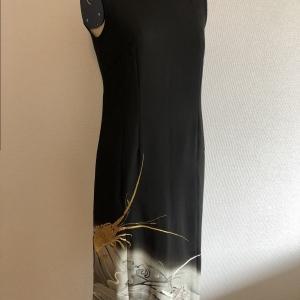 着物リメイクドレス 黒留袖