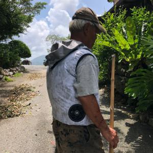 ファン付き作業着涼しい♬沖縄