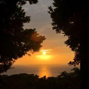 今日の夕日♫沖縄