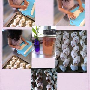自家製イチゴ酵母のベーコンエピ