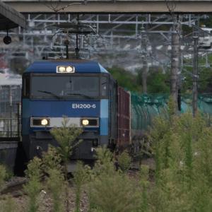 9月14日の貨物列車83レ EH200形6号機 2019