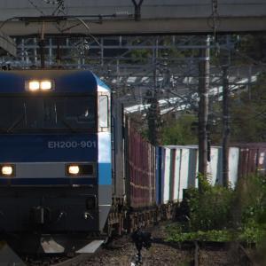 11月7日の貨物列車2083レ EH200形901号機 2020