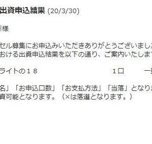 結果発表!! 【キャロットクラブ・キャンセル募集2020】